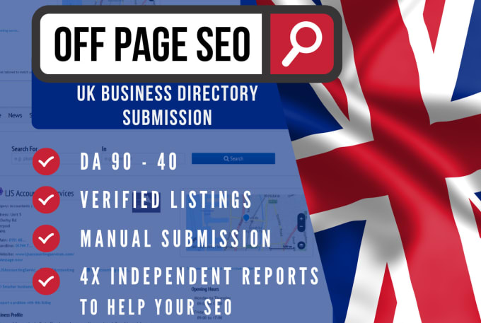 I will add your business to 90 uk directories,  top quality uk link building