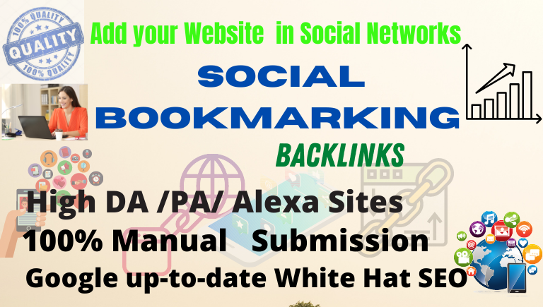 I will Create Manually and provide 35 high quality social bookmarking for increase your website rank