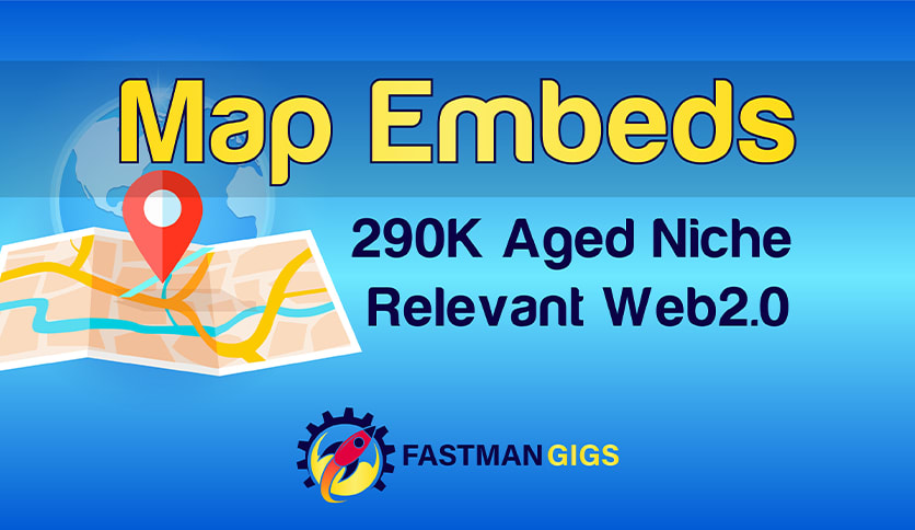 I will embed map using iframes 230 embeds,  schema is extra