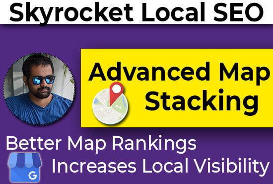 I will strengthen local SEO advanced map stacking Authority Domain Ranking 81 Max 5 keywords