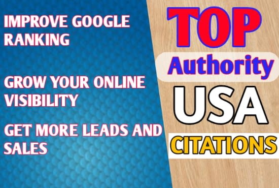I will do 350 top USA local citations and directory submission