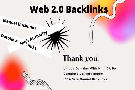 50 High Quality Dofollow Web 2.0 SEO Backlinks