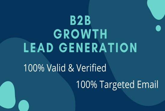 50 targeted and verified b2b linkedin lead generation & email list building