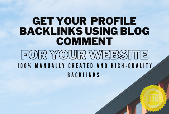 Provide 100 Niche Related Manual Blog Comment Backlinks