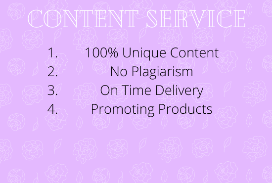 I will write unique content for your website or blog.