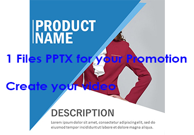 New Files PPTX for create Videos Promotions