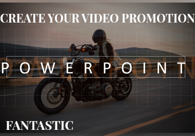 Do you want to do your own promotional video Quick and easy with PowerPoint.