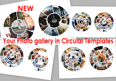 Circular Photo Template for Photoshop