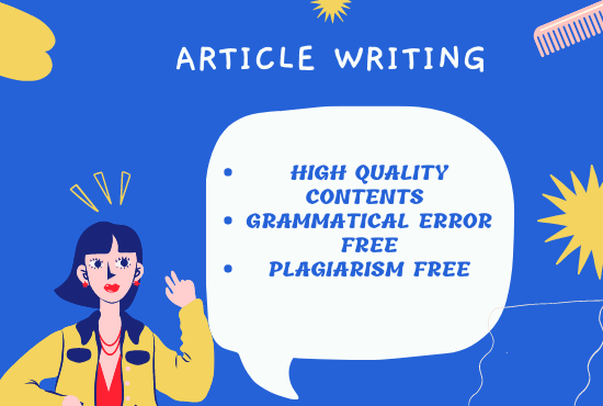 I will write SEO friendly unique content for your blog or products article