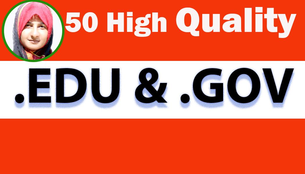 I will Create growing 50 high pr9, edu & gov trust authority safe Backlinks rank 1st on google