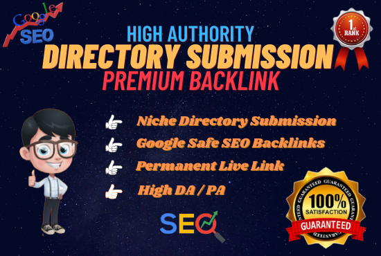 I will create 50 directory submission backlinks for website