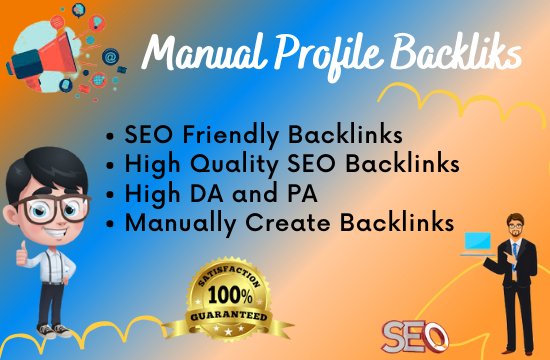 I will create 70 high-quality profile backlinks for your blog and websites