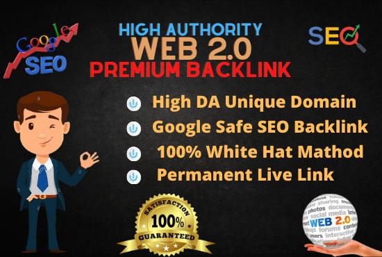 I will do 50 High Authority Web 2.0 Backlinks