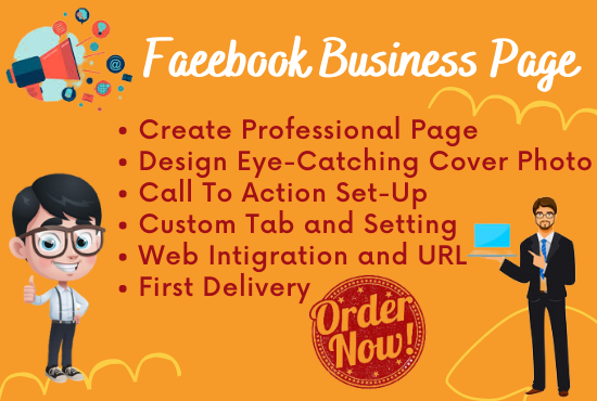 I will do your facebook business page or shop page