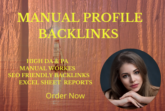 I will do SEO profile backlinks for your website
