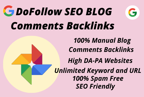 I will do 50 SEO Blog Comment manual DoFollow backlinks on high-quality DA and PA authority websites