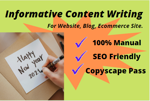 I will write professional content with 1500 word SEO friendly for website and blog content.