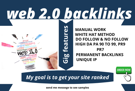 I will Create 50 Manually Web 2.0 SEO Backlinks For Your Website