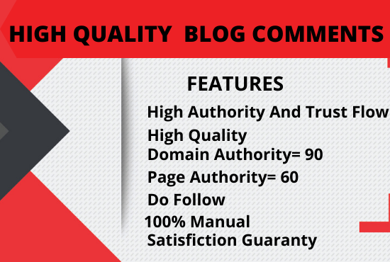 I will create 100 Manually high quality Do follow Blog comments SEO backlinks