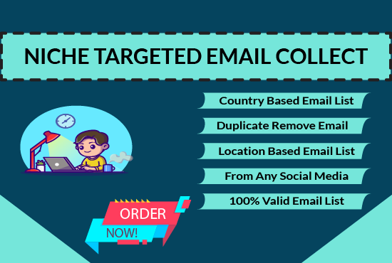 I will collect 5k niche-targeted valid Email list for your business.