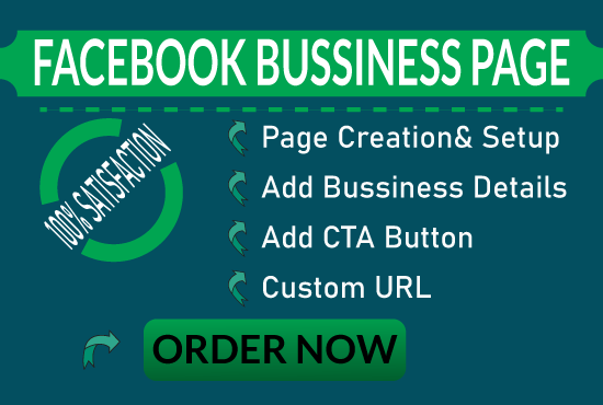 I will create a unique Facebook business page for you.