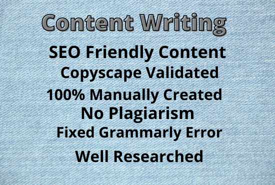 Create SEO friendly content 1500 words for your website or blogs