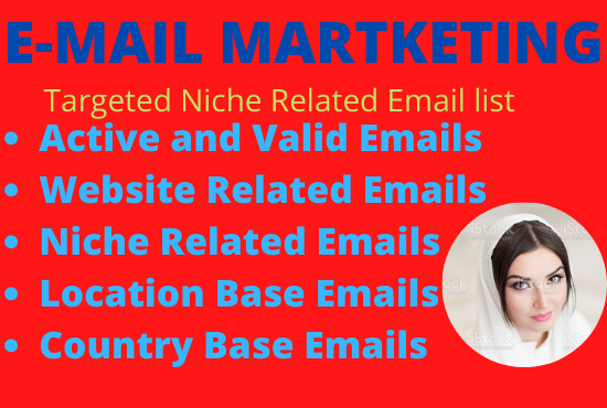 provide 5000+ niche related active email list for your business