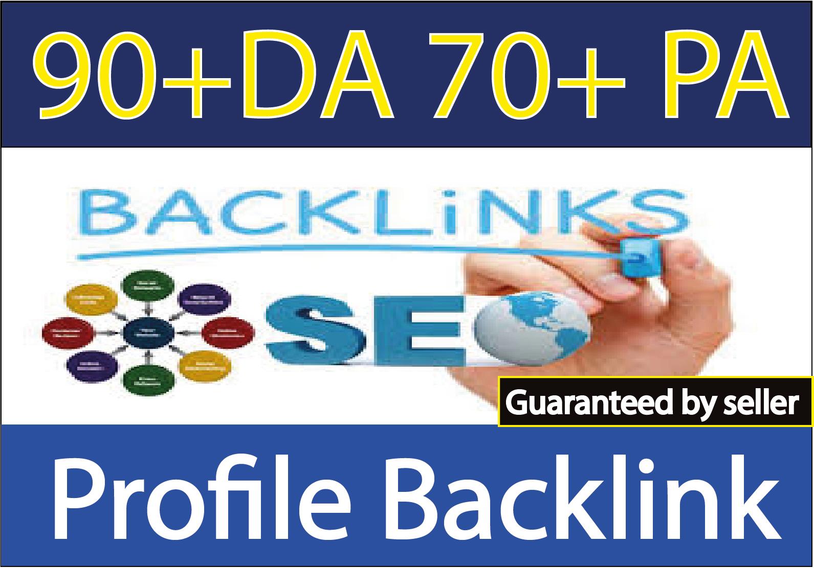 I will Do High DA PA 50 Profile Backlink