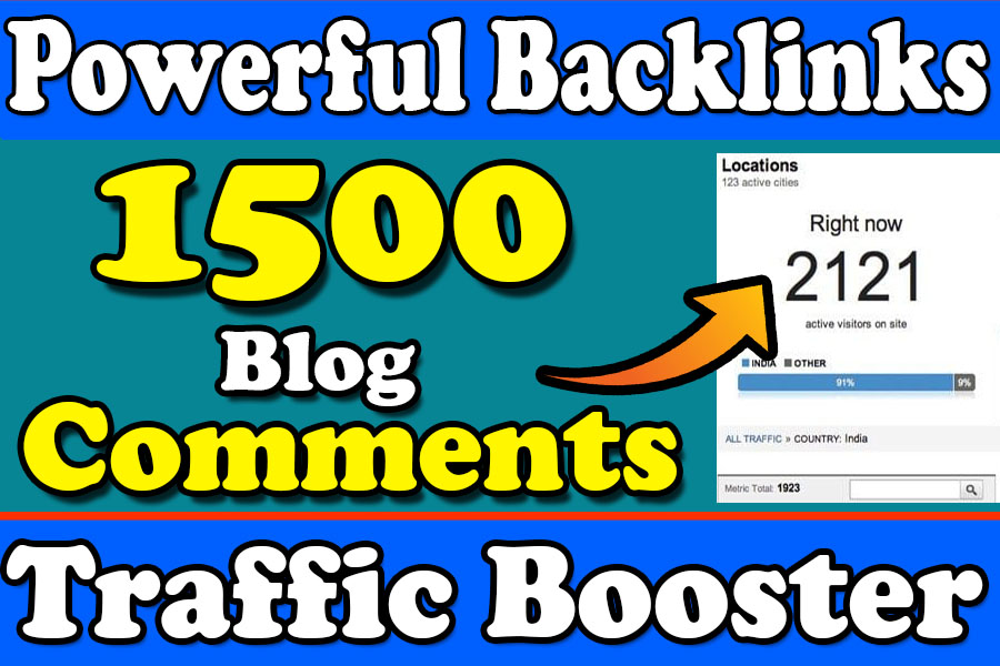 I will do 1500 blog commenting backlinks for boost your website
