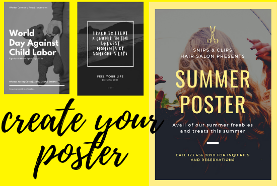 I will make unique and colorful posters