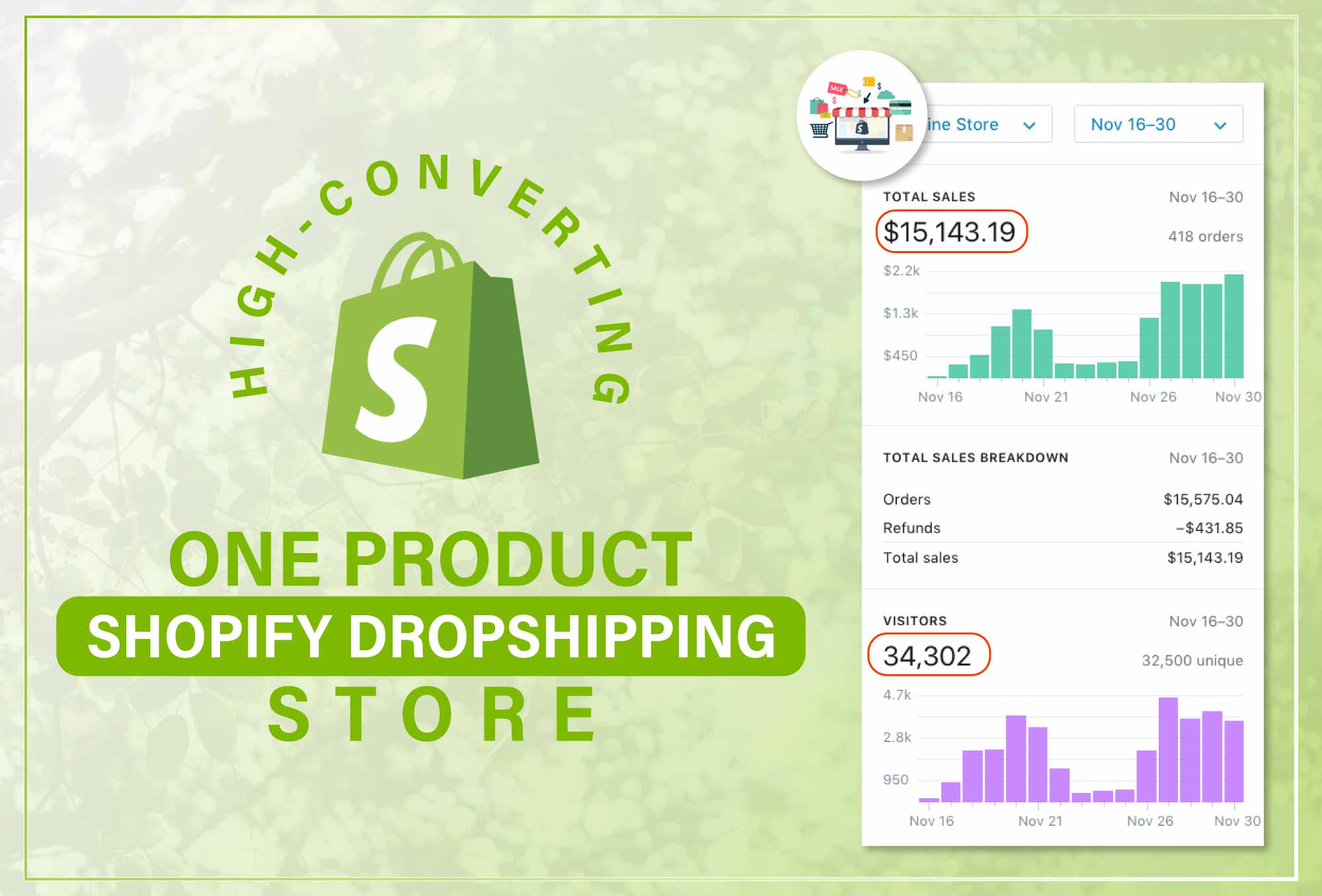 create one product shopify dropshipping store or shopify website