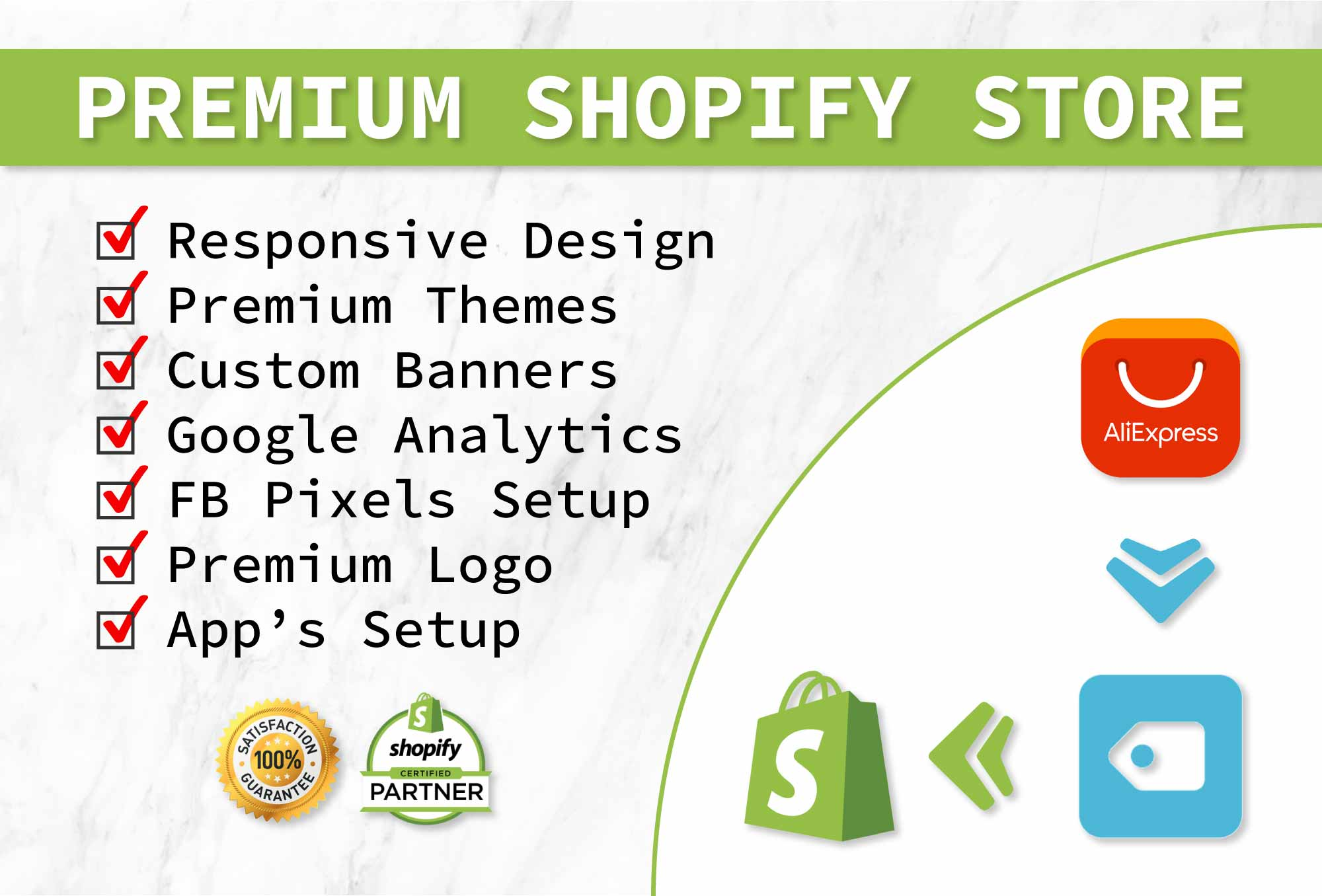 Develop a high converting drop shipping shopify store website from scratch