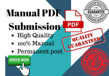 30PDF or Doc Manual submission in high DA/PA site