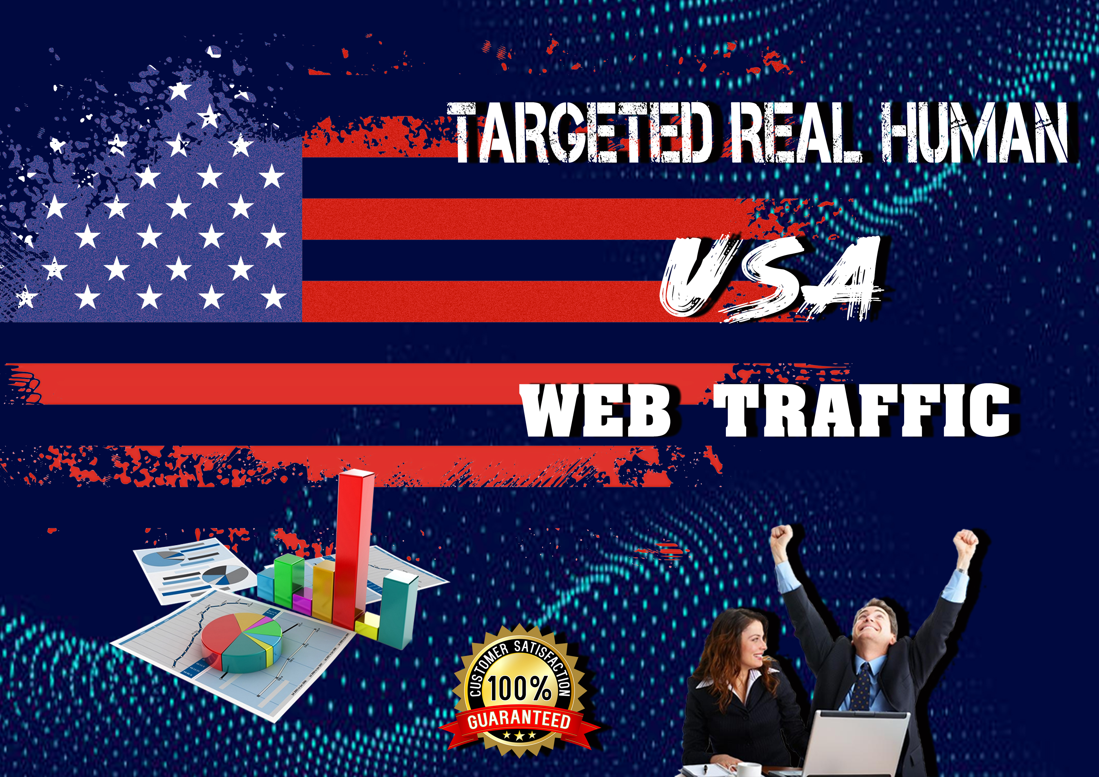 I will bring USA targeted daily 200 visitor real human 30days