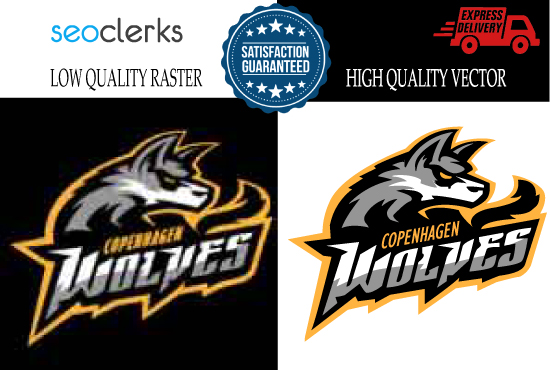 I will convert low quality raster image or logo to vector