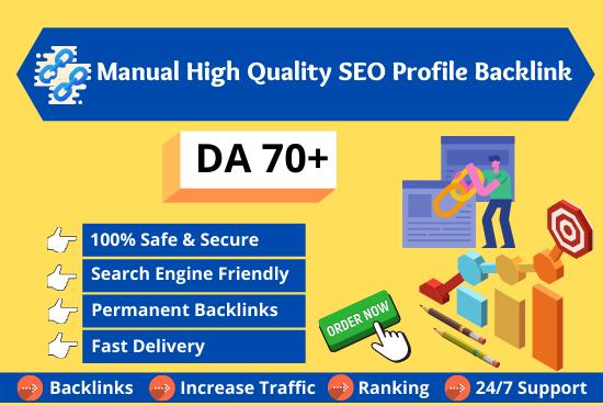 I will do 100 unique high quality authority SEO dofollow backlinks service