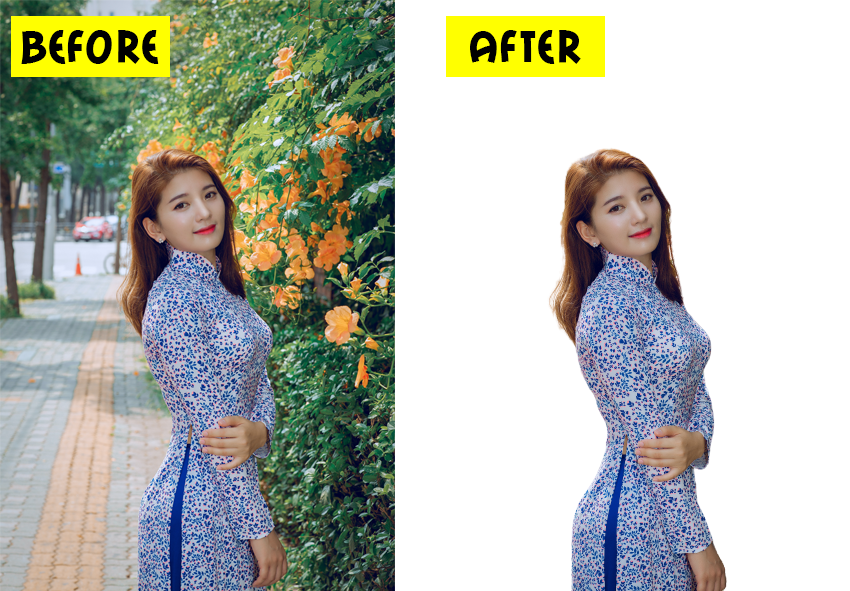 I will remove background from images.