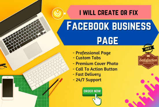 Create and design a SEO friendly and well optimized Facebook business page