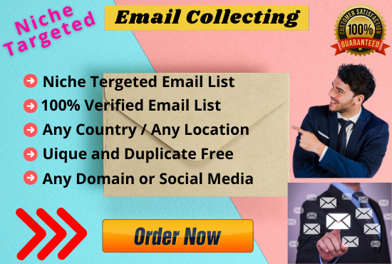 I Will Collect 5k Niche Targeted Bulk Email List According to Your Requirement