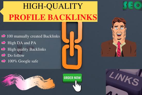 Do 70 SEO profile backlinks on high authority websites manually