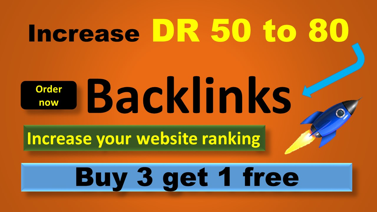 I will do 50 DR 50 to 74 dofollow backlinks for off page seo