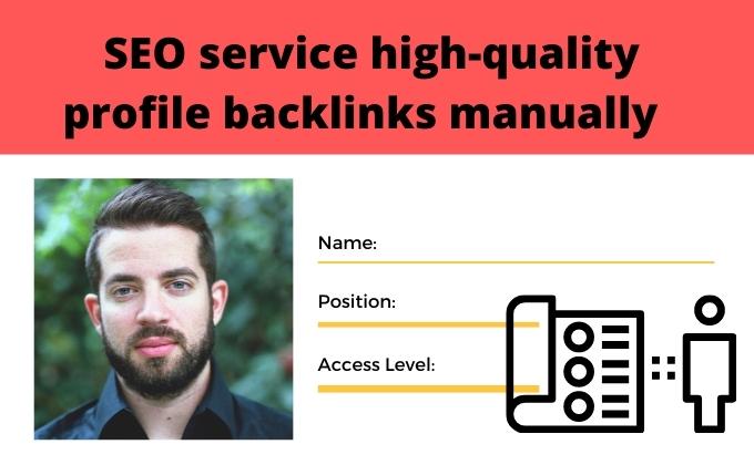 I will do SEO service high quality 50 profile backlinks manually