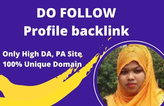 I will do SEO service high quality profile backlinks manually