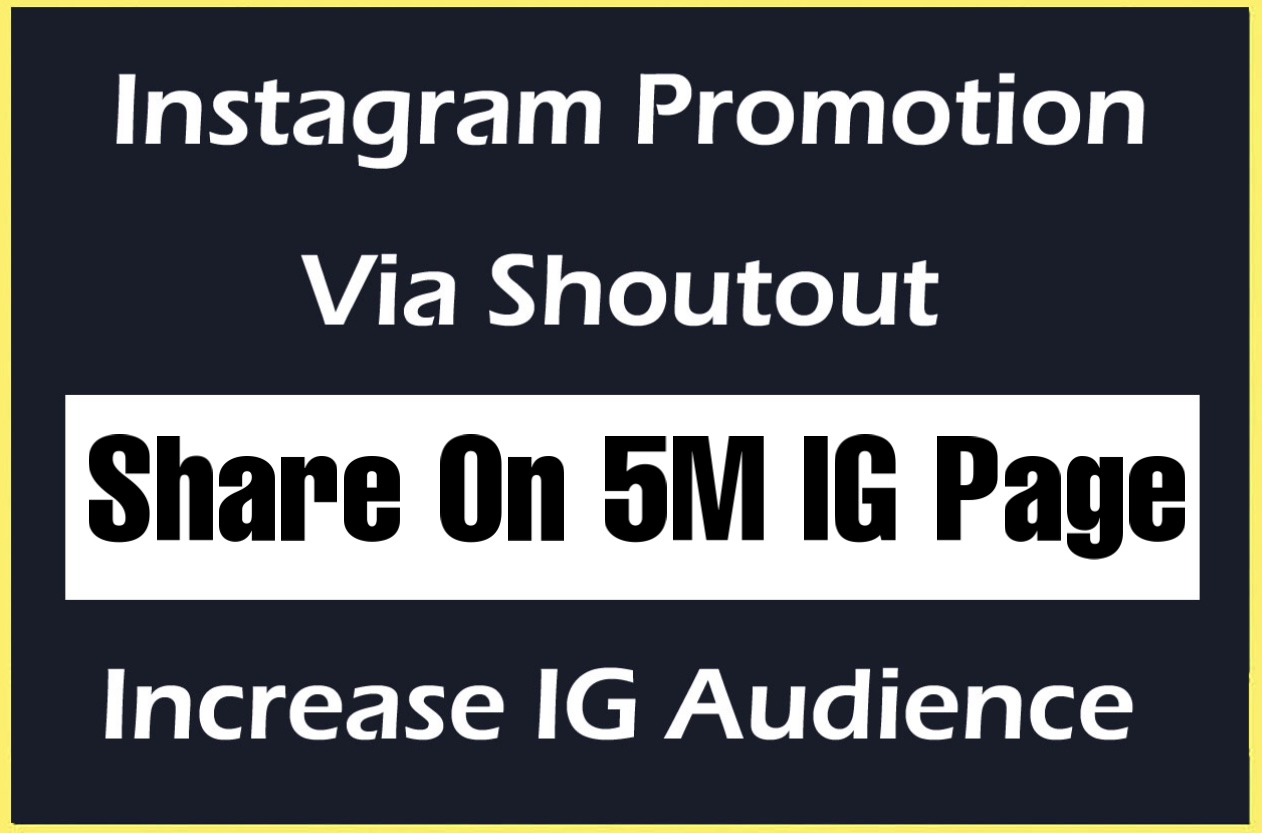 instagram shoutout promotion on my 5m ig page