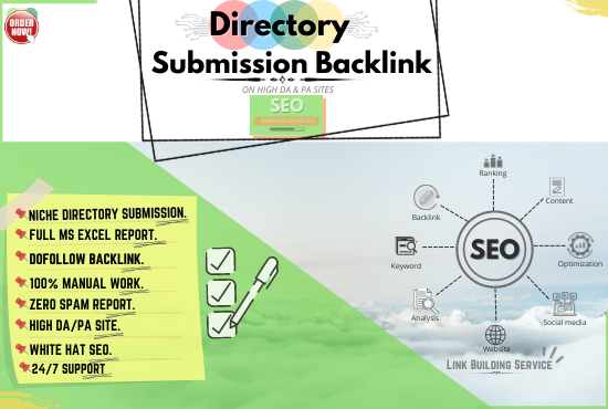 I will do manually 70 Best quality Directory Submission SEO Backlink on high authority sites.