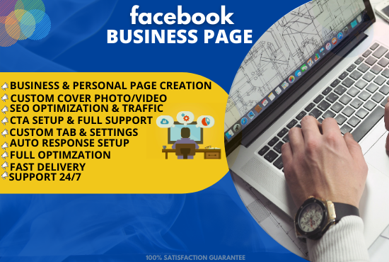 I will create SEO based organic growth of your Facebook business page
