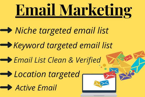 I will provide 5k niche targeted email list