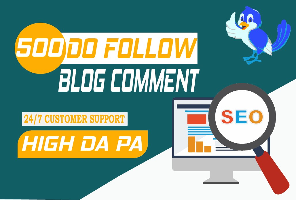 Create manually 500 High quality blog comment backlinks