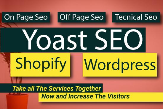 I will setup yoast seo for shopify and wordpress