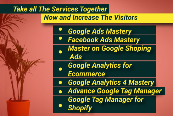 I will setup 31 types of google ads PPC campaign with GA4